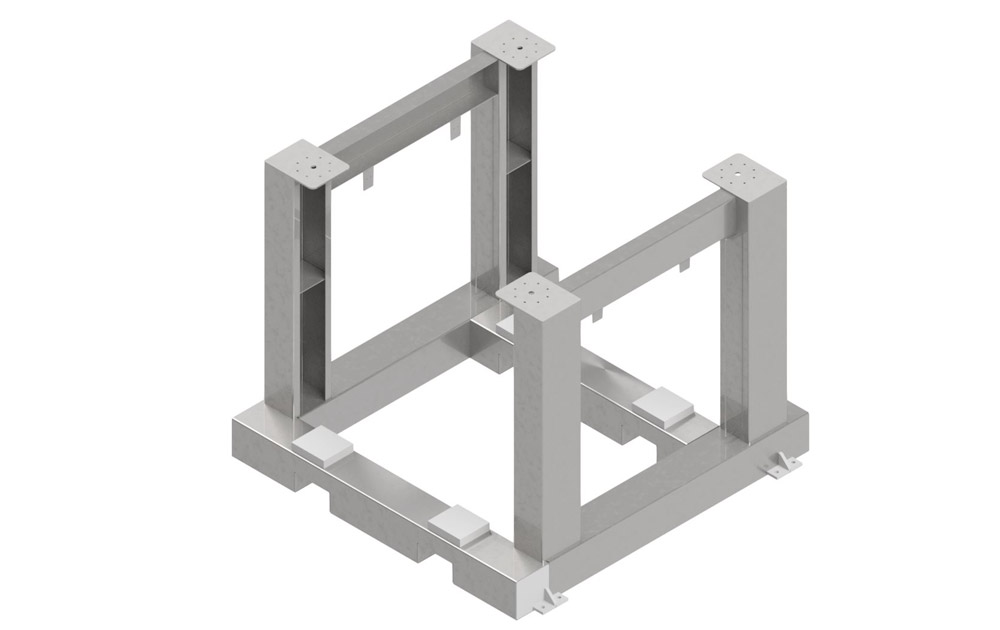 Machine structure in stainless steel