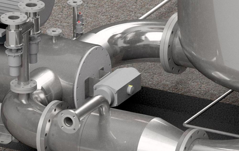 Dyeing machine heat exchanger