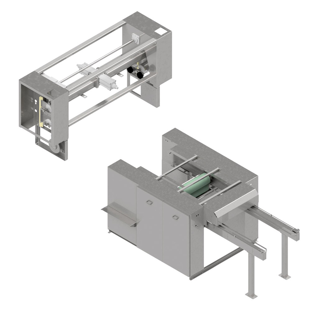 Technical Draw - Hank dryer with automatic squeezer model MNC